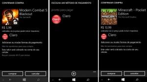 Comprando apps no Windows Phone com creditos da Claro