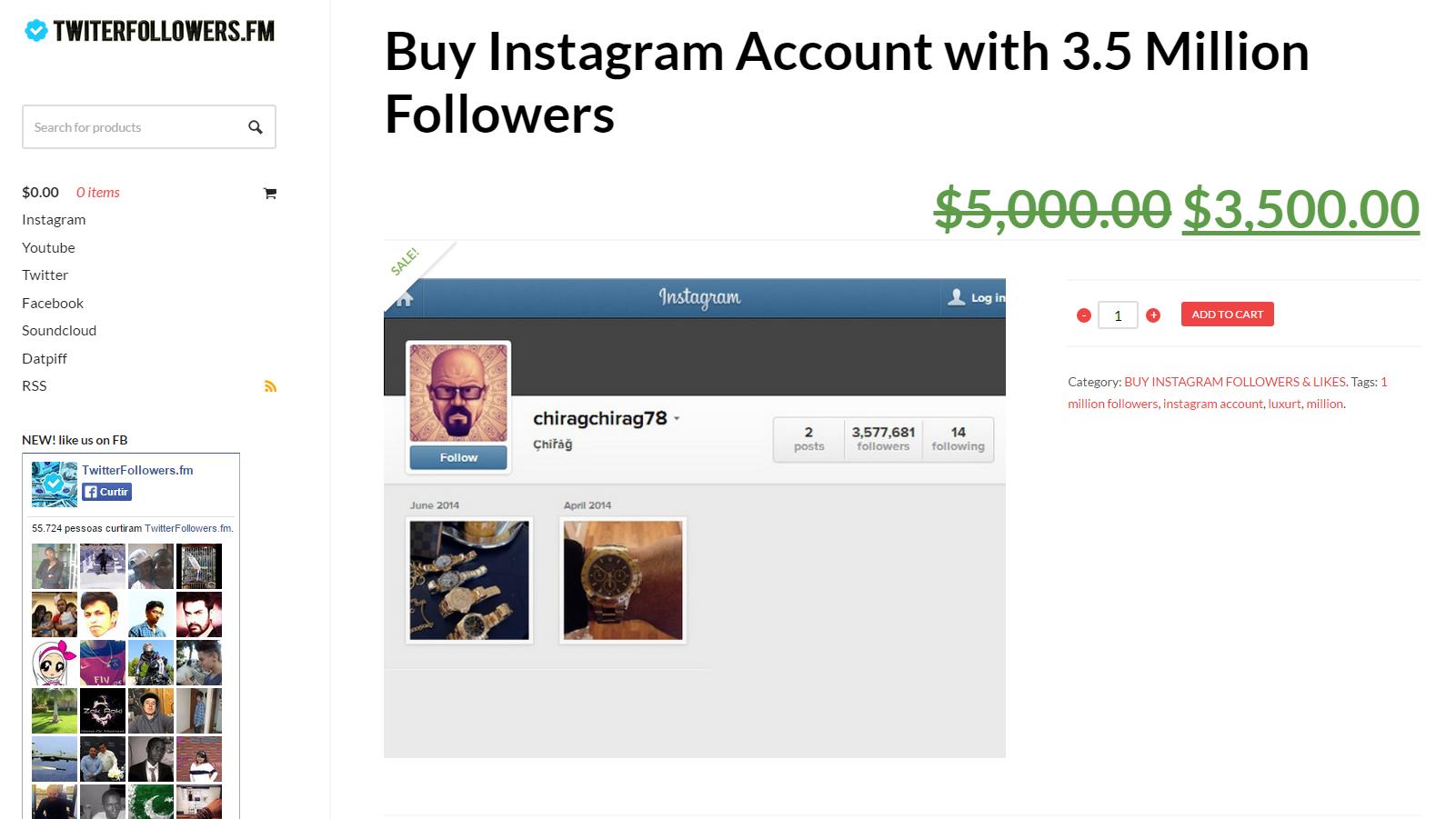 Comprar seguidores no Instagram e outras redes