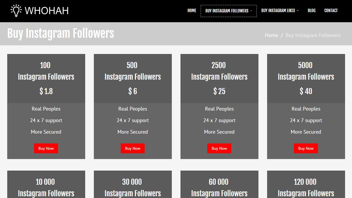 Comprar seguidores no Instagram