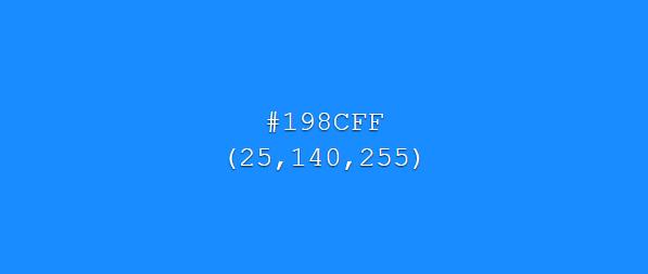Cor azul na escala RGB
