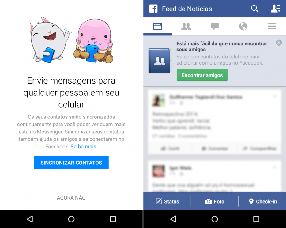 Facebook - encontrar amigos no celular