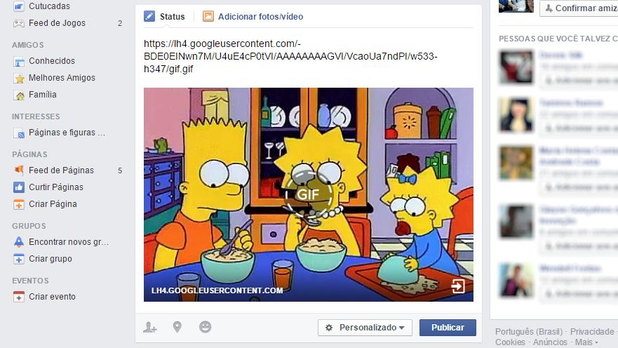 Facebook exibe GIFs