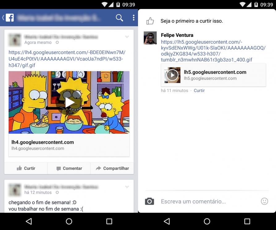Facebook nao exibe GIFs no celular