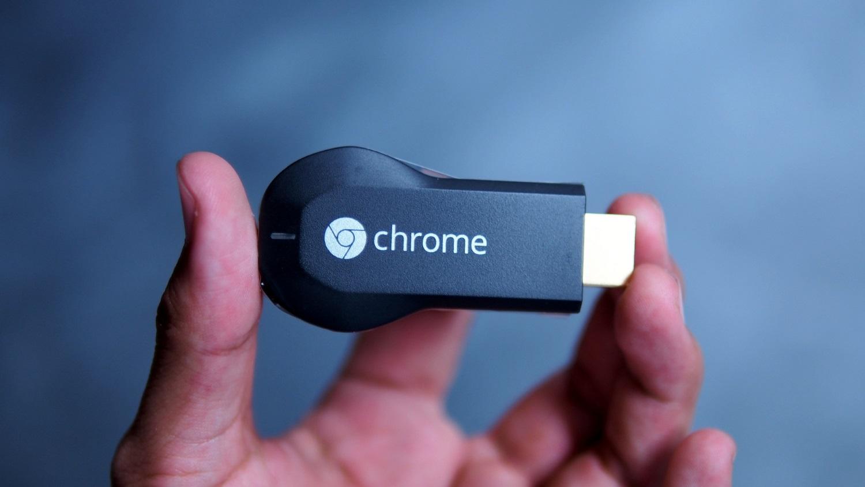 Google Chromecast na mao