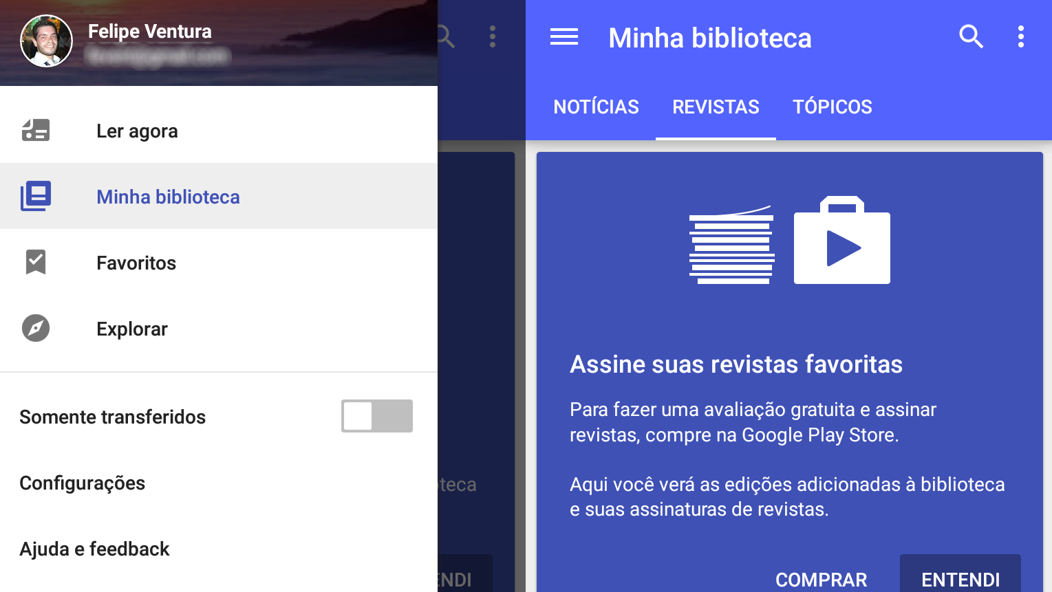 Google Play Banca - revistas