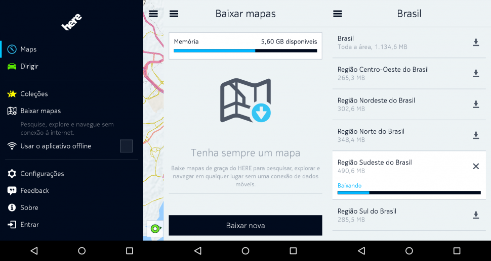 Here Maps - mapas offline