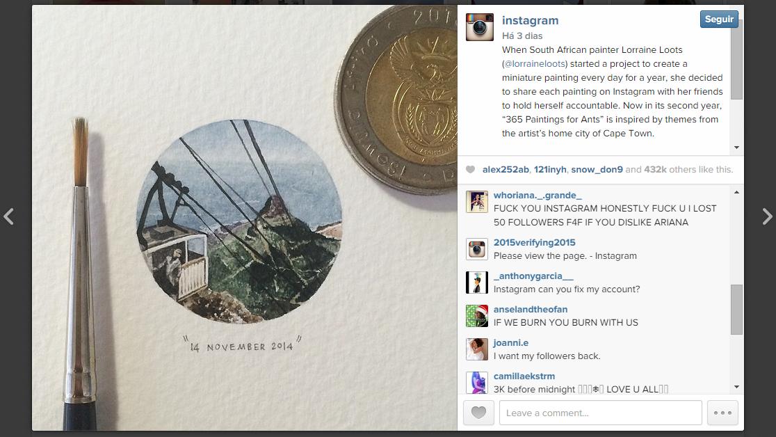 Instagram - reclamacoes apos perda de seguidores