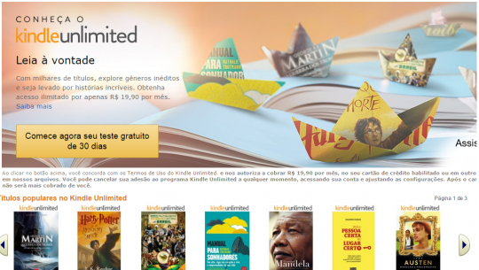 Kindle Unlimited no Brasil