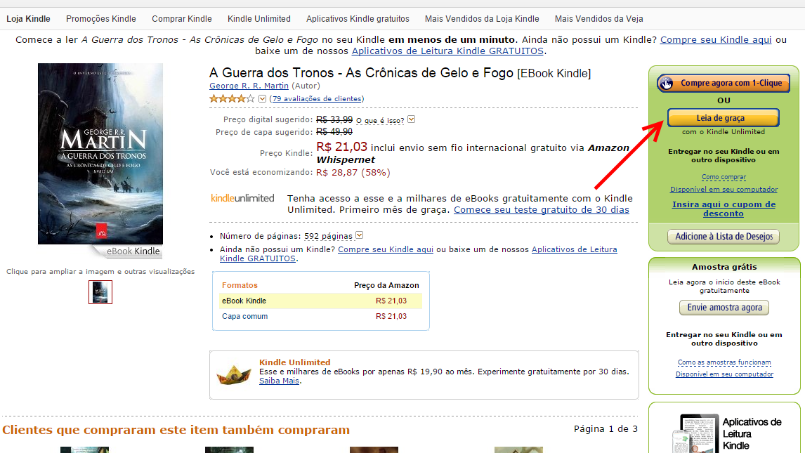 Kindle Unlimited no Brasil - leia de graca