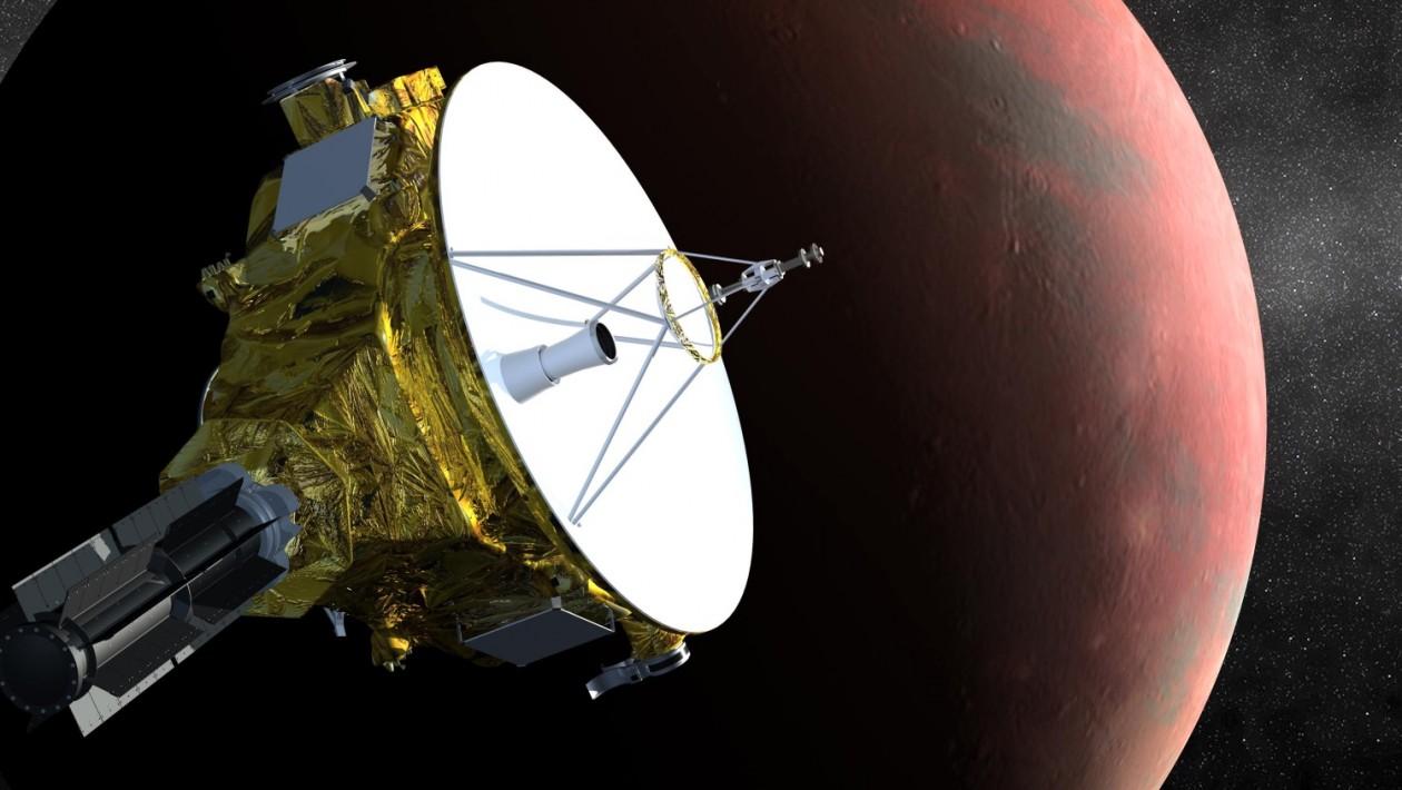 New Horizons se aproximando de Plutao