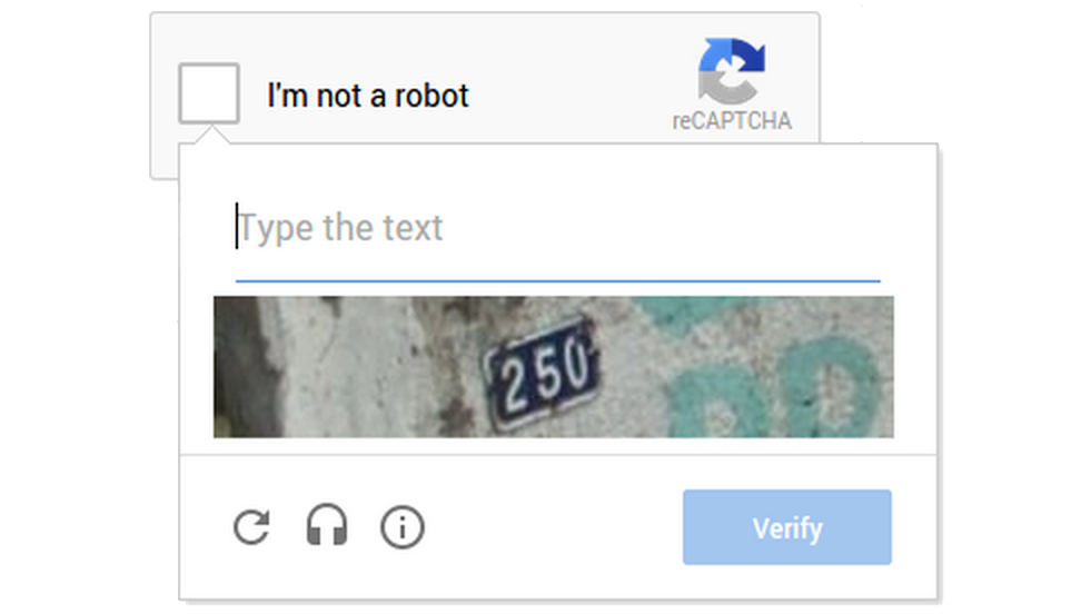 Novo CAPTCHA do Google
