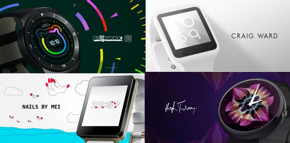 Novos mostradores do Android Wear