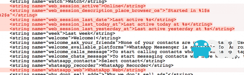 Strings WhatsApp web