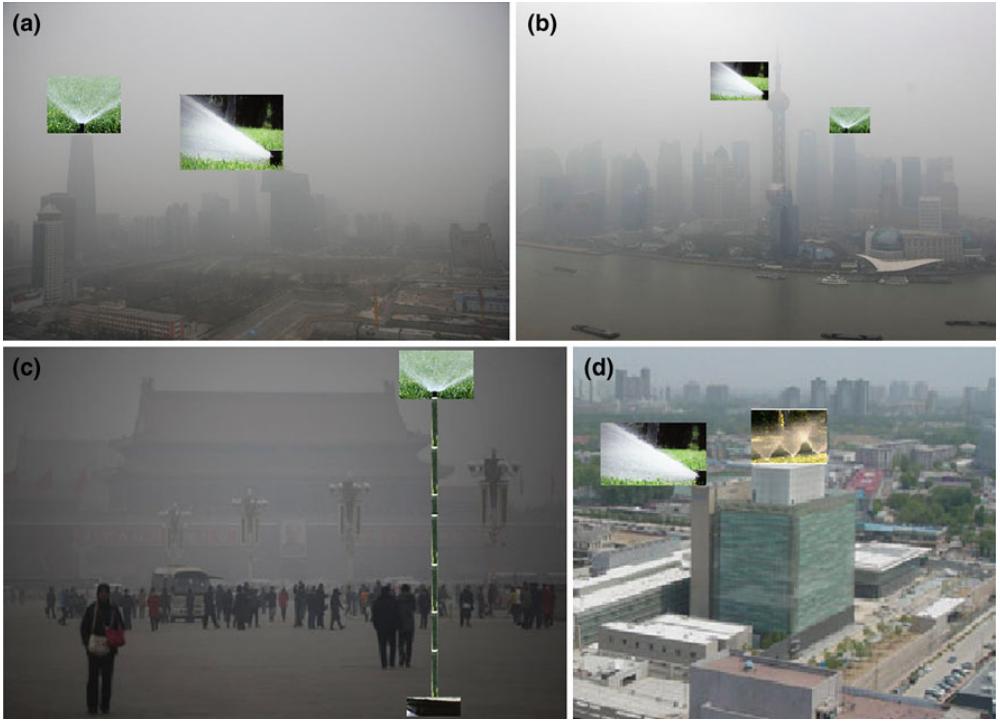 Borrifadores em Pequim