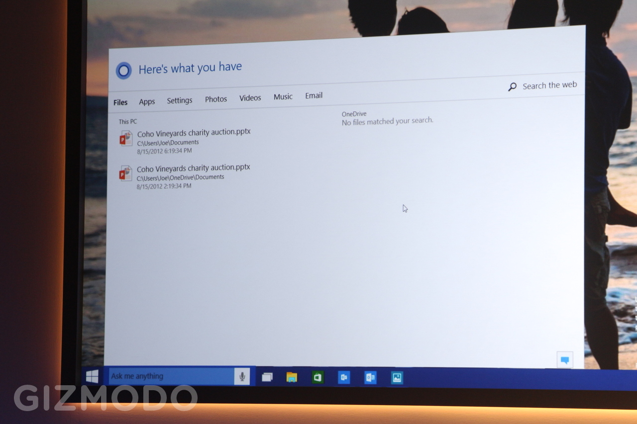 Cortana procura arquivos no Windows 10