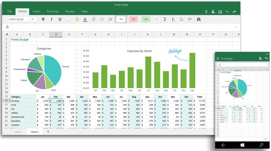 Excel para Windows 10