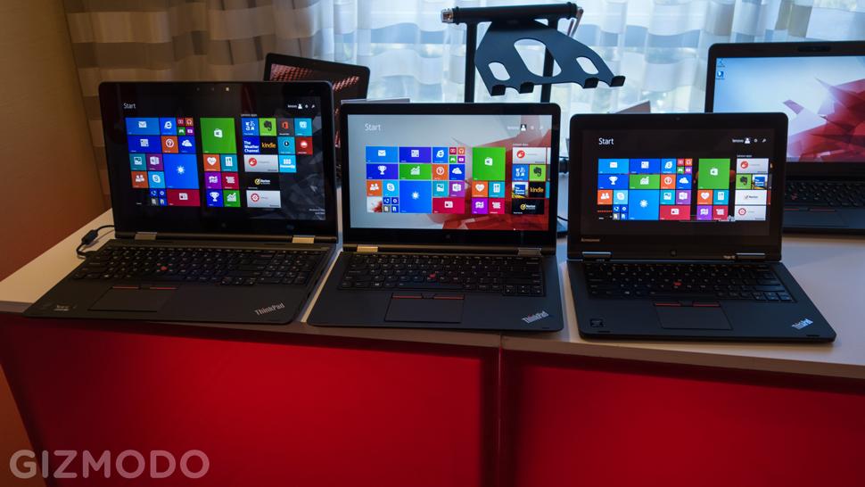 Lenovo ThinkPad Yoga em varios tamanhos