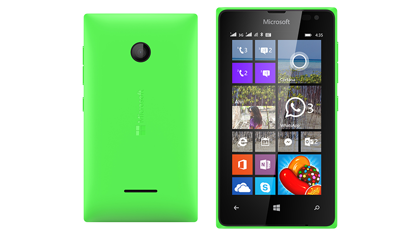 Lumia 435 lado a lado