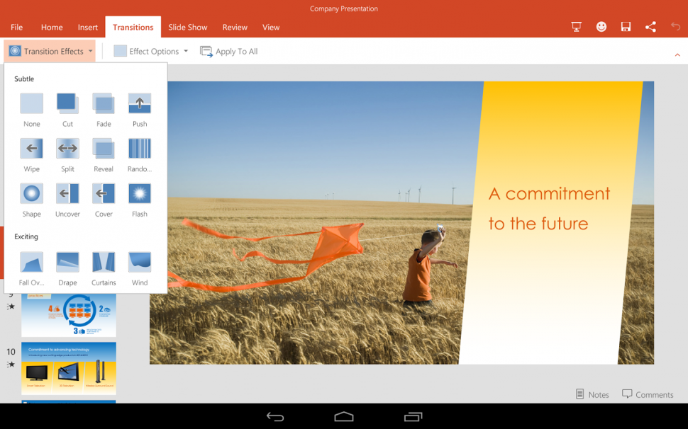Microsoft Office para tablets Android (3)