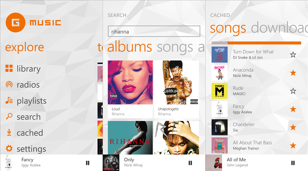 Player for Google Play Music