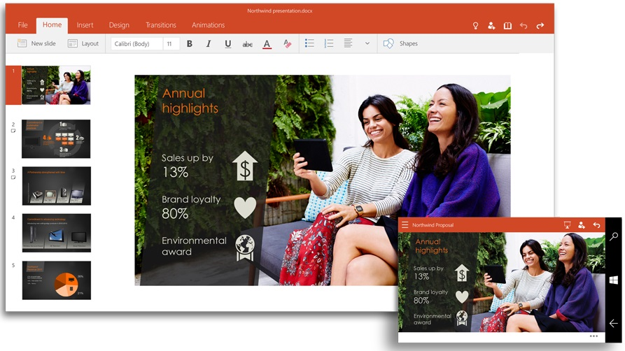 PowerPoint para Windows 10