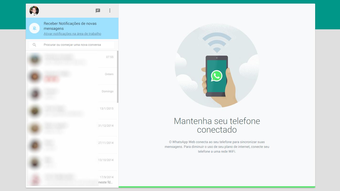 Whatsapp para web - interface