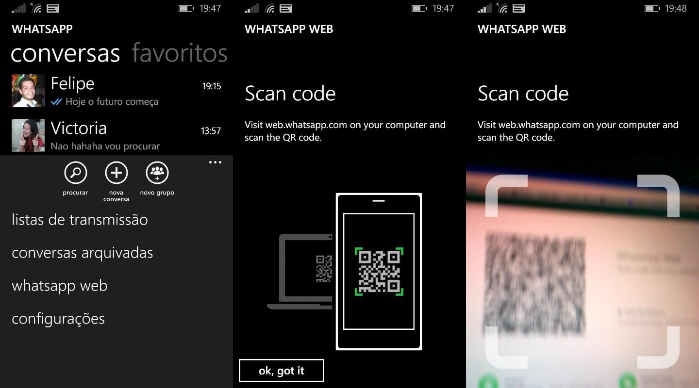 Whatsapp web - Windows Phone