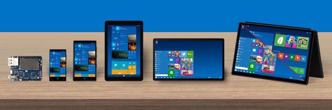Windows 10 em diversas plataformas