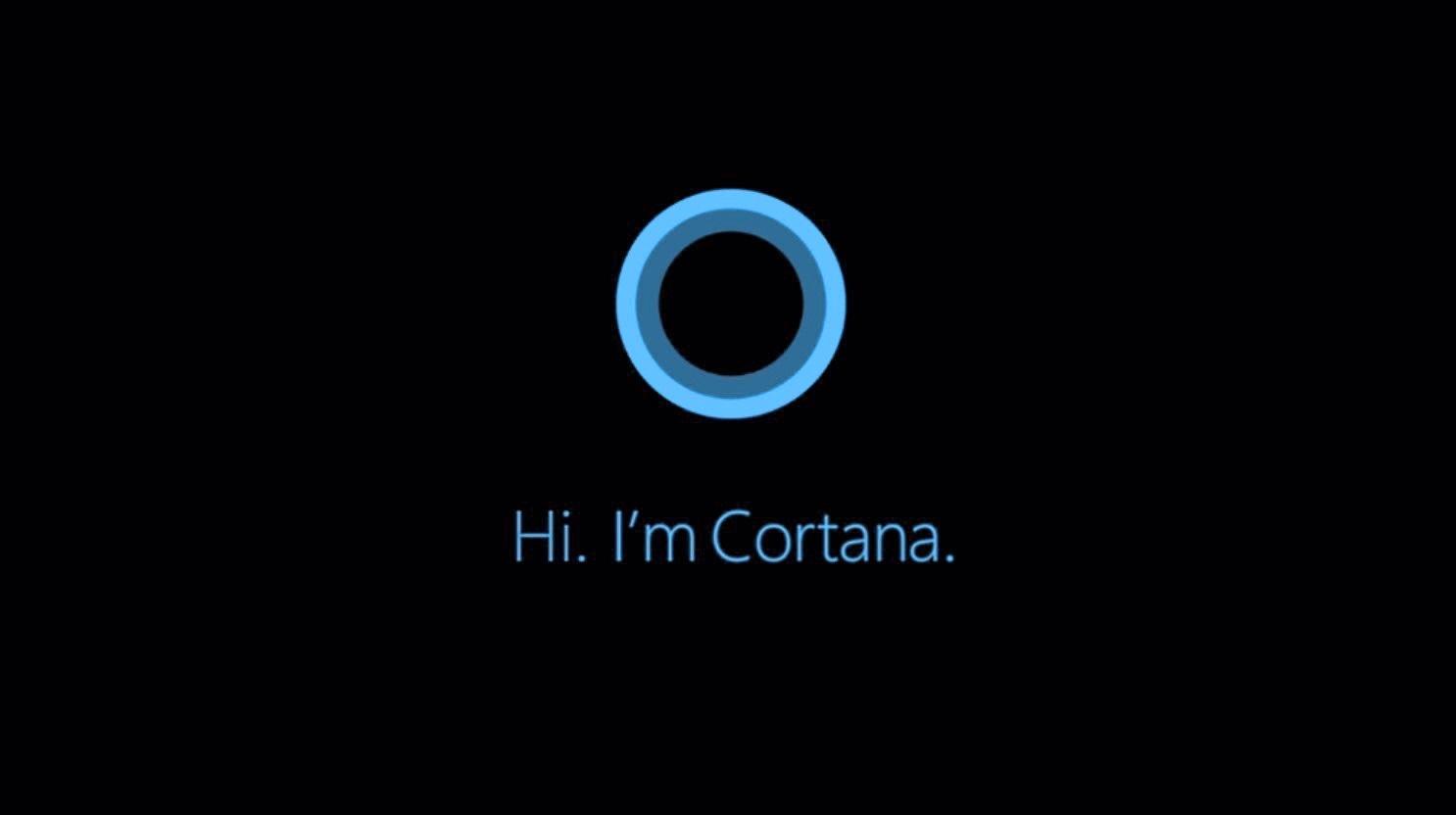 Cortana diz oi