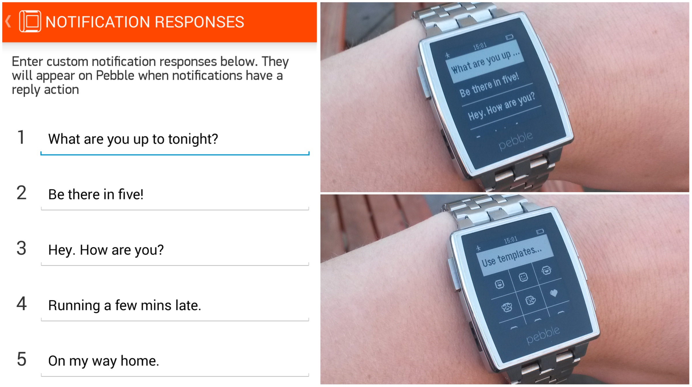 Demonstracao do Pebble Steel