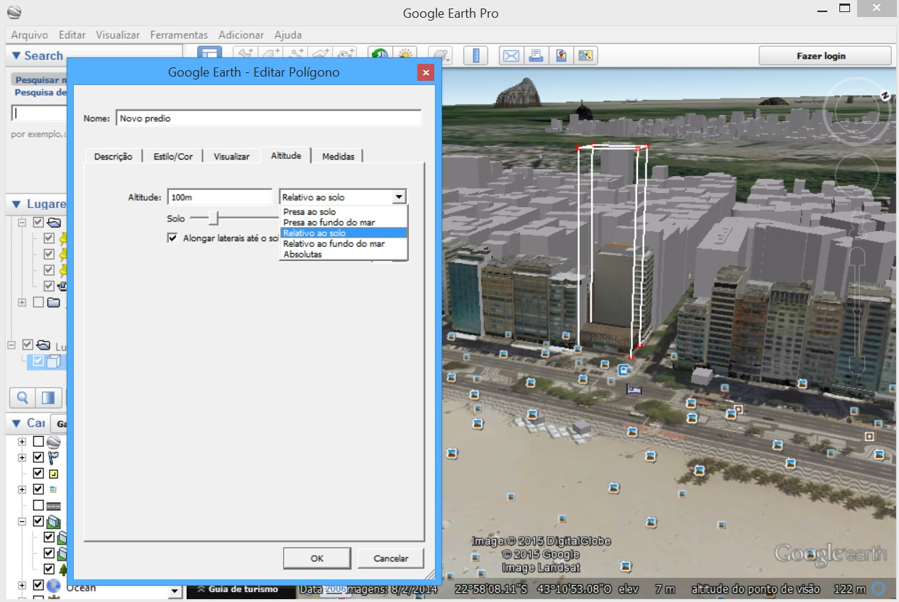 Google Earth - predio 3D