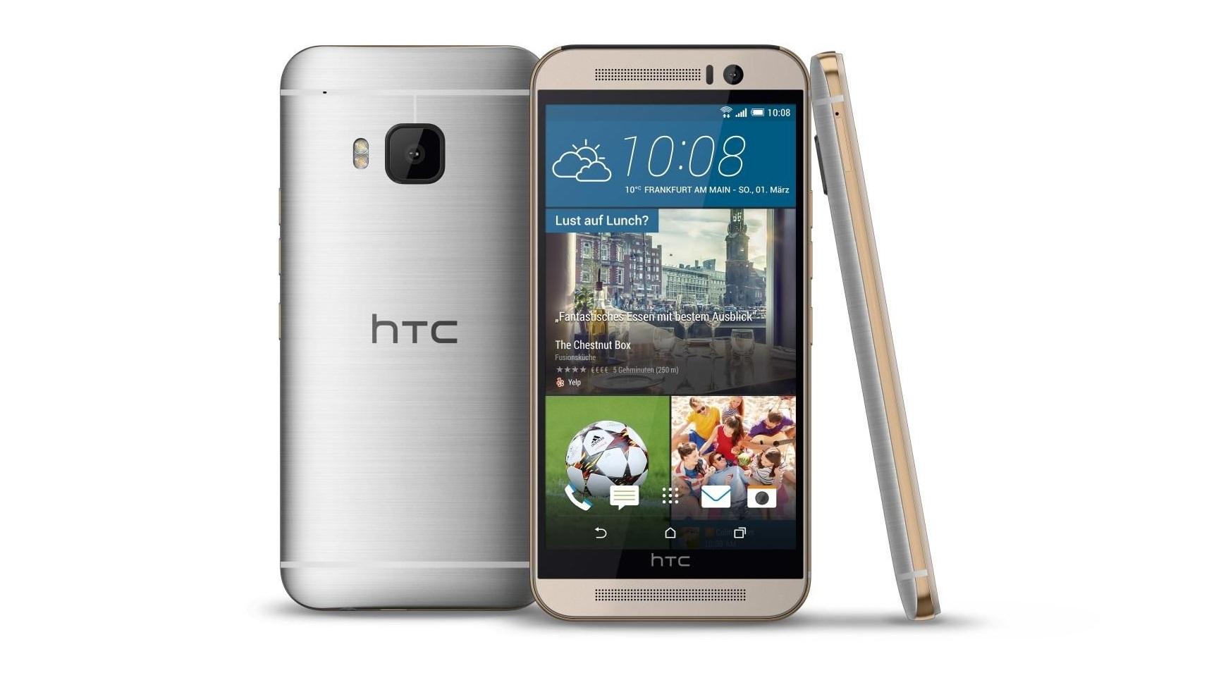 HTC One M9 - prata e dourado