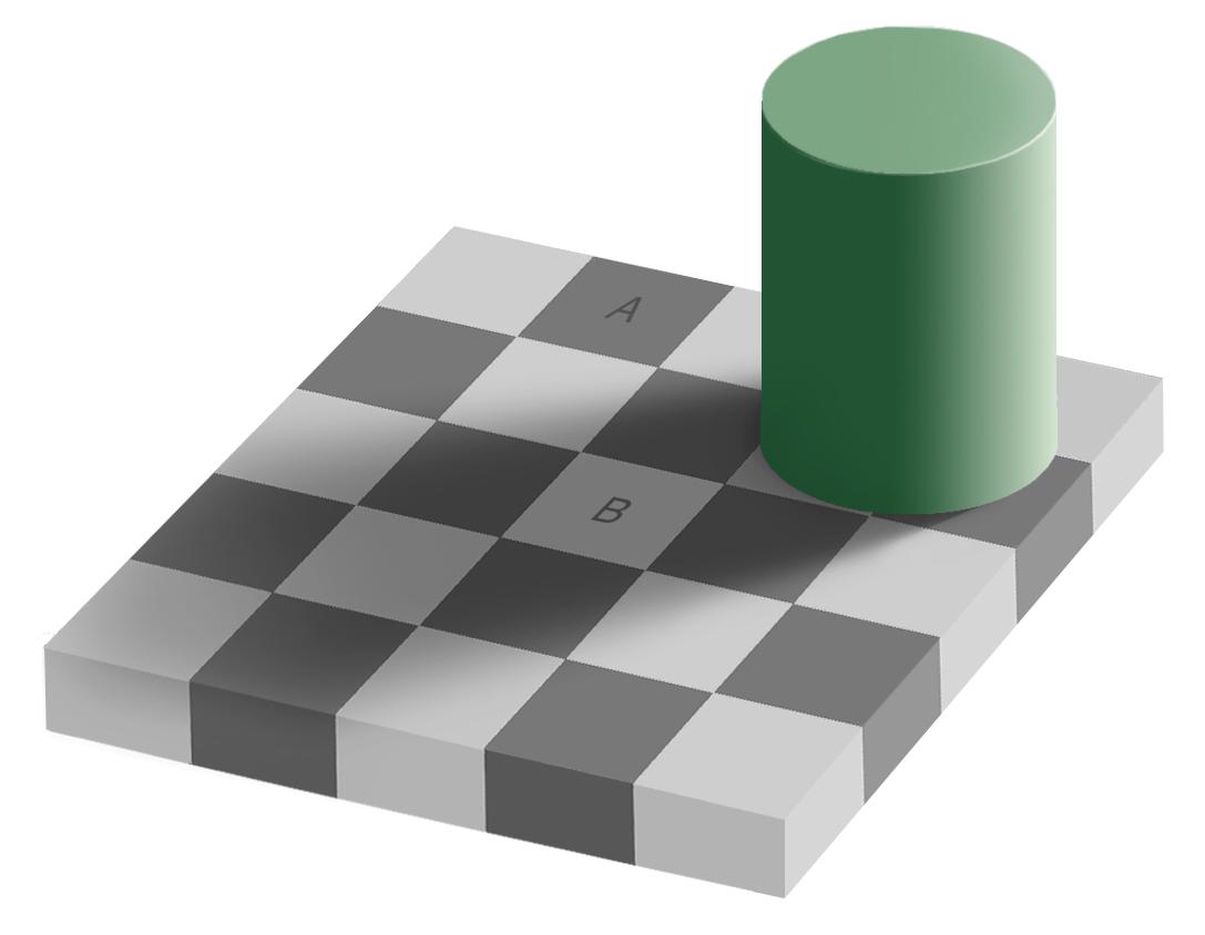 Ilusao de optica de xadrez
