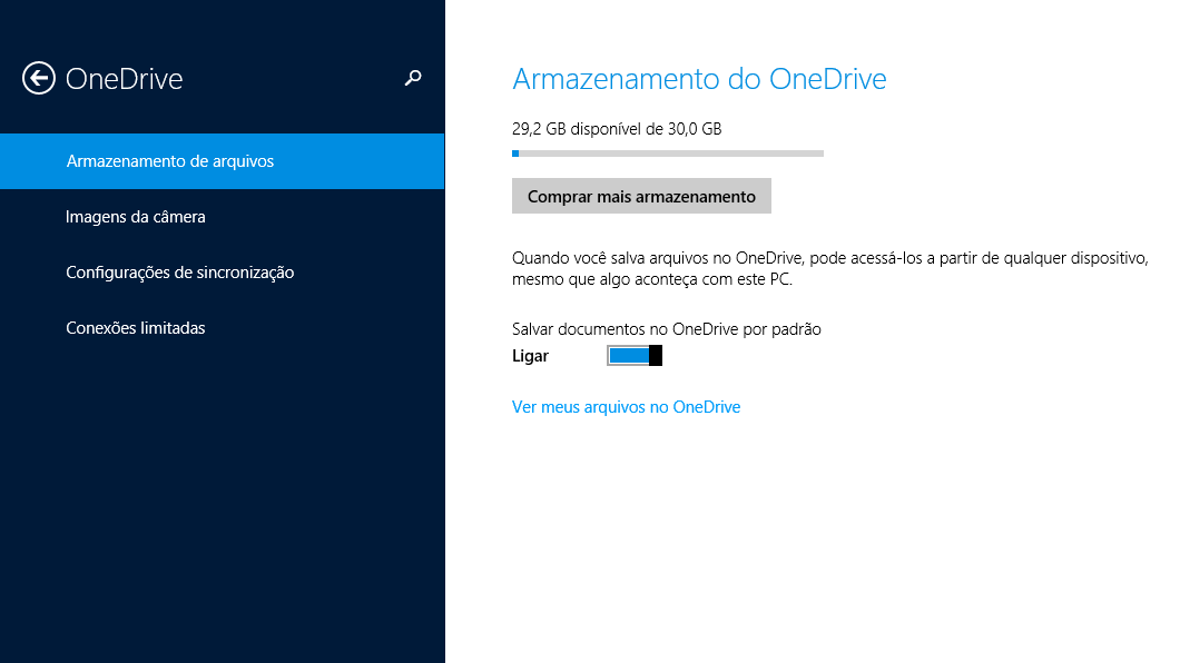 OneDrive no Windows 8.1