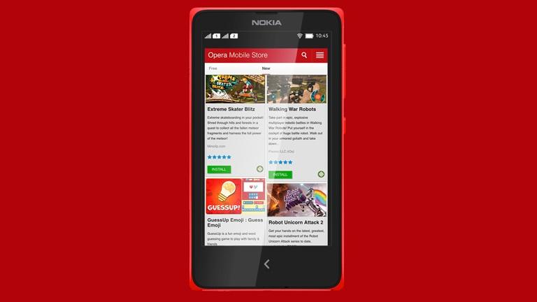 Opera Mobile Store em celulares Nokia