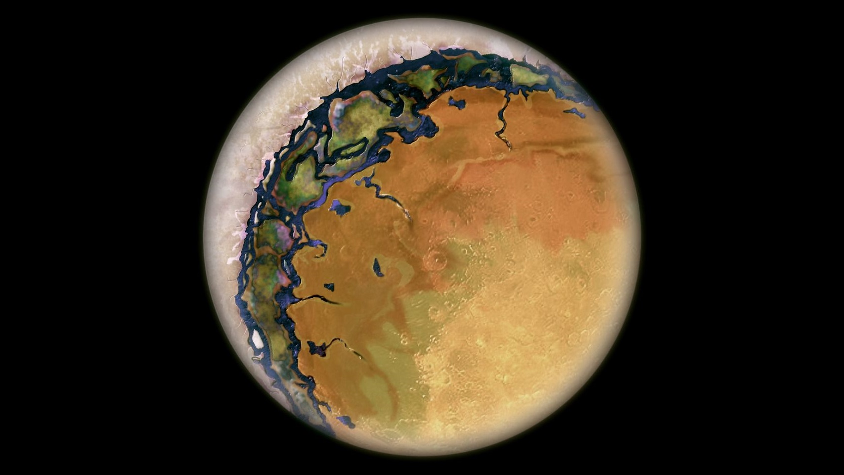 Planeta ocular quente