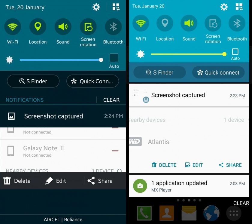 Samsung TouchWiz antes e depois do Lollipop (2)