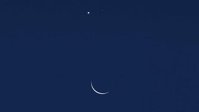 58fb640cf Hoje haverá uma conjunção entre a Lua, Vênus e Marte que poderá ser vista a  olho nu