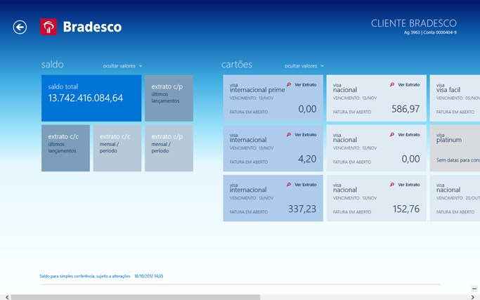 Bradesco para Windows 8