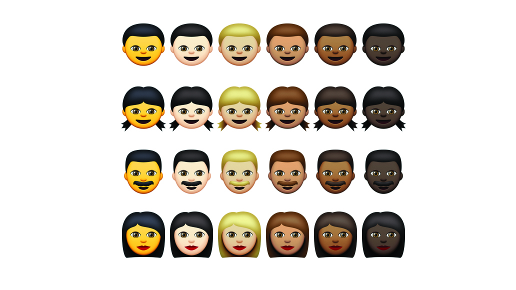 Emoticons racialmente diversos no iOS