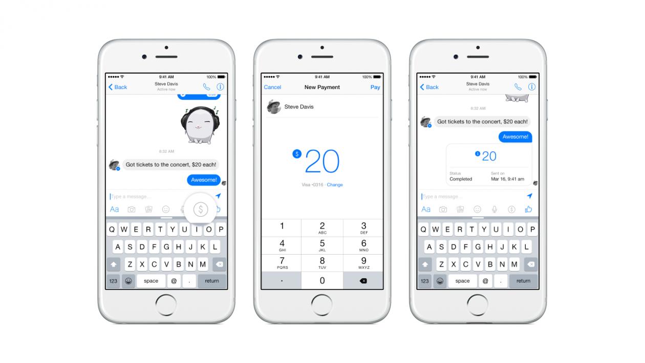 Facebook Messenger - pagamentos