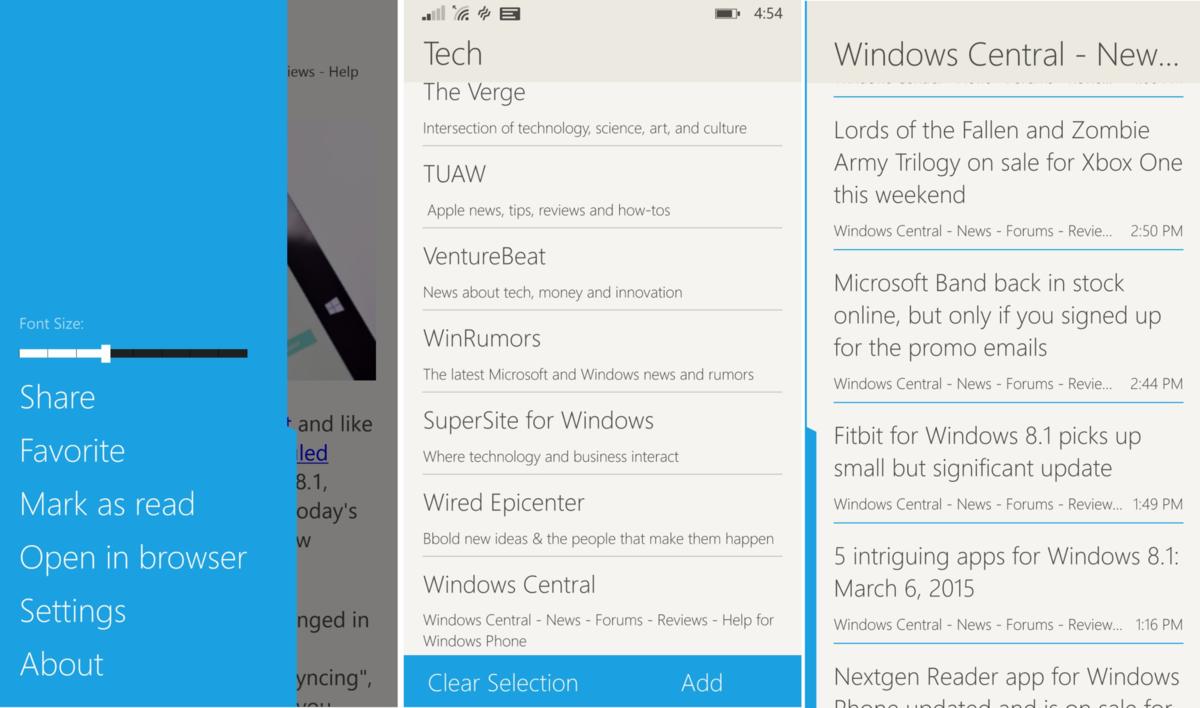 Fedora-Reader-Phone-Screens