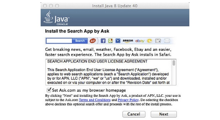Java e Ask no OS X