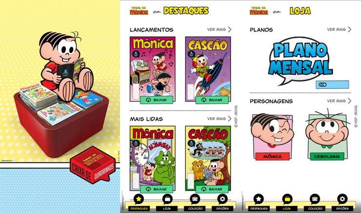 caixa de quadrinhos ios