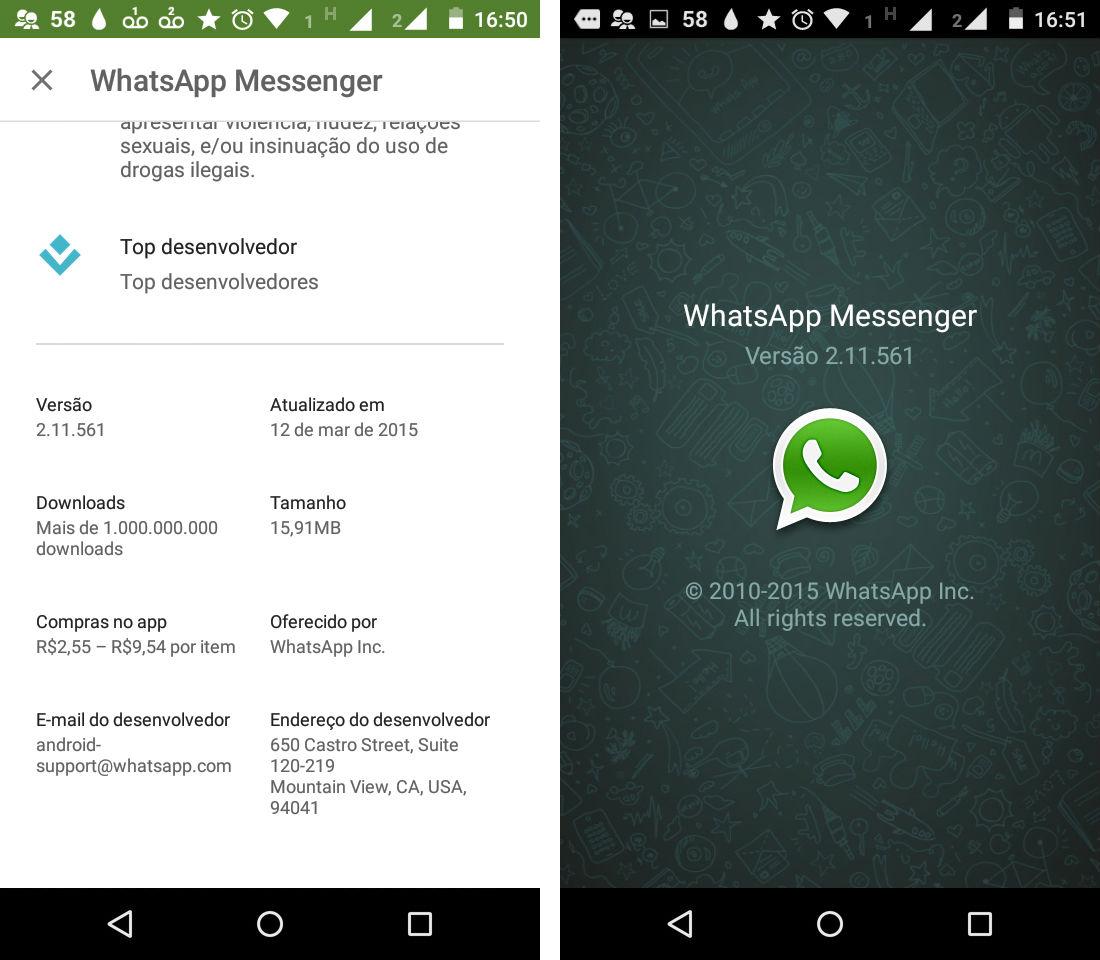 whatsapp ligações 561