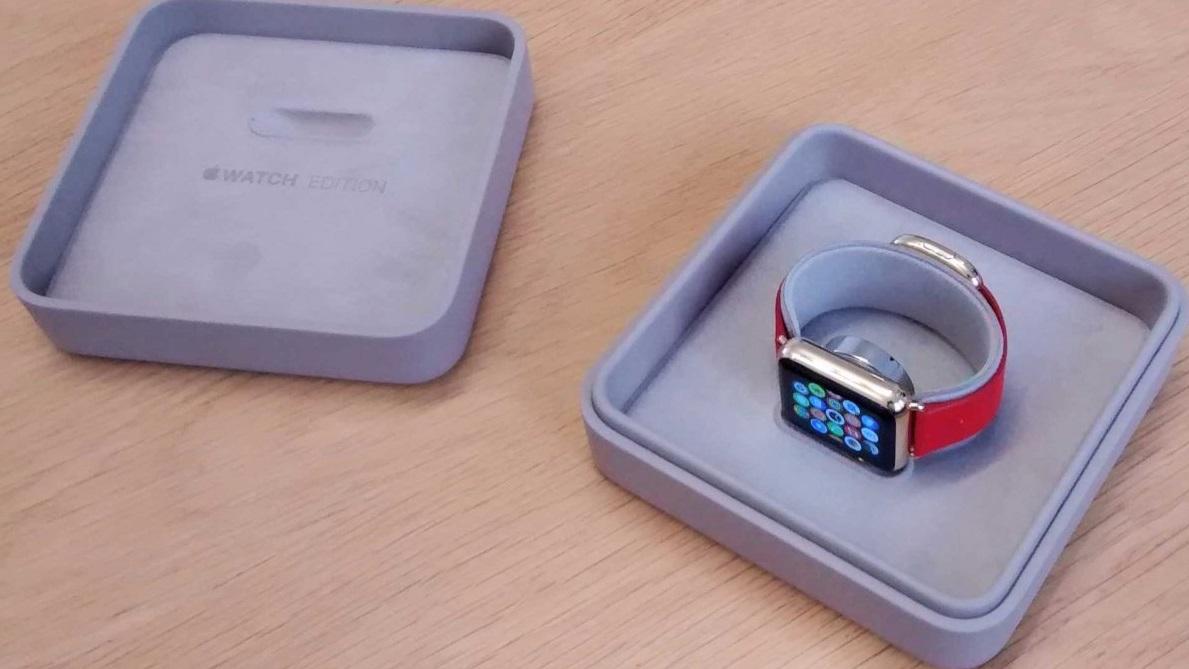 Caixa do Apple Watch dourado