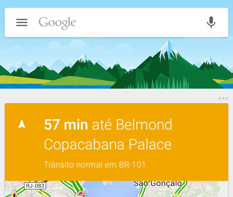 Direcoes com Google Now