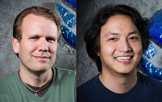 Eric Dodds (esquerda) e Yong Woo (direita)