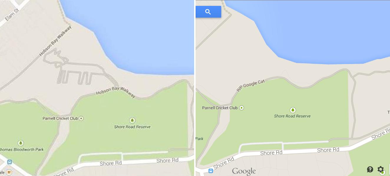Gato no Google Maps
