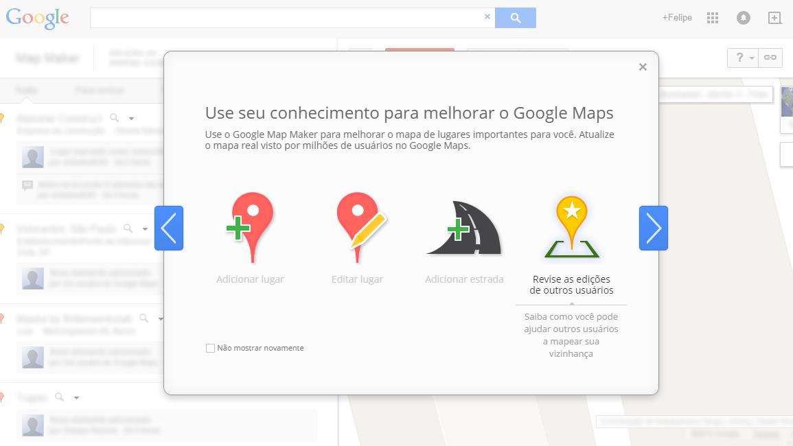 Google Map Maker e revisoes
